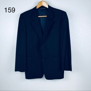 Gieves & Hawkes Navy Suit Jacket 100% Wool